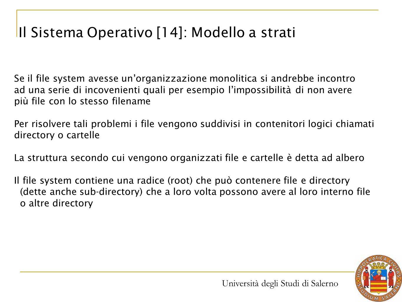 Il Sistema Operativo [14]: Modello a strati